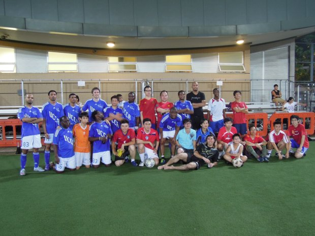 Christian Action football team and local Chinese team